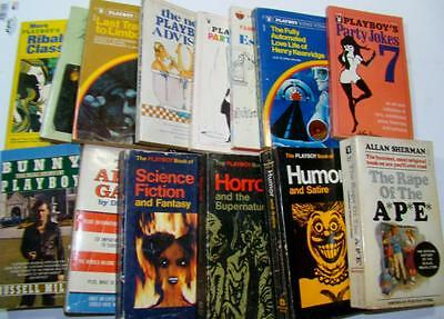 Vintage Lot 15 Playboy Press Paperback Books Jokes Horror Bar Guide Stories More
