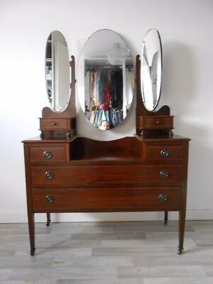 Edwardian Dressing Table with triple mirror