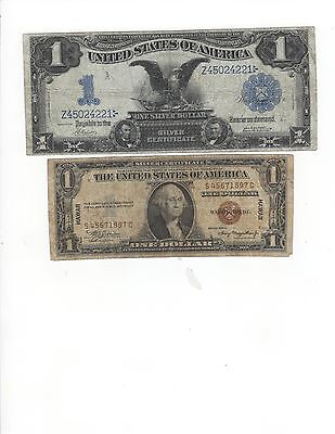 #2-Ones-1899 $1.00 VG & 1935A $1.00 Hawaii VG Notes