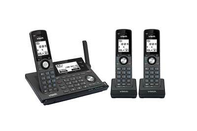 Vtech 17850 Long Range 3-Handset Dect360 Cordless Phone With Mobileconnect