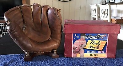 Mickey Mantle Rawlings Mm Personal Model Baseball Glove With Store Display Box