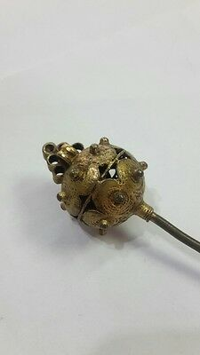 RRR Extremely rare Turkish Ottoman hair pin with gilt 18th – 19th century