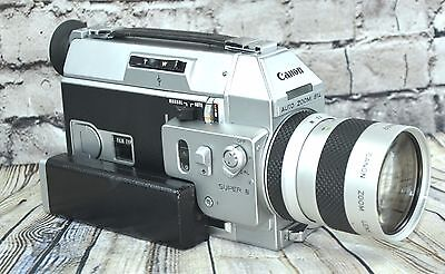 【WORKING】CANON 814 AUTO ZOOM FILM USED W/ MANY EXTRAS SEE BELOW Video Embedded