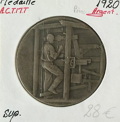 Medal Silver - Association General Tissue And Textiles - 1920