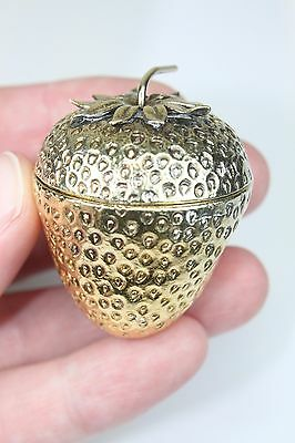 LAST CHANCE! LOWEST PRICE! Tiffany & Co Sterling Silver Gold STRAWBERRY Pill Box