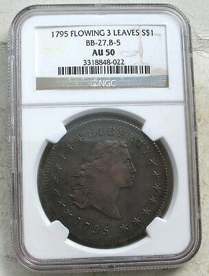 1795 Flowing Hair  Bust Silver Dollar  Ngc 50
