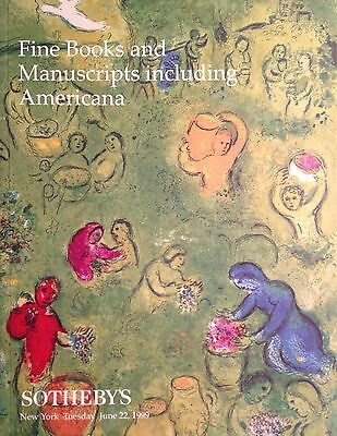 Sotheby's FINE BOOKS and MANUSCRIPTS including Americana 7/22 1999 NY Sale 7332