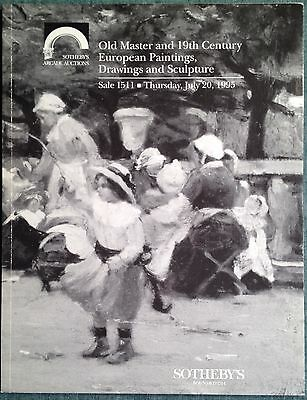Sotheby's Old Master, 19th C European Paintings, Drawings 7/20/95 Sale 1511 NY