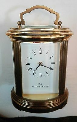 Matthew Norman Ovale Standard 8-Day Carriage Clock + Double-Ended key