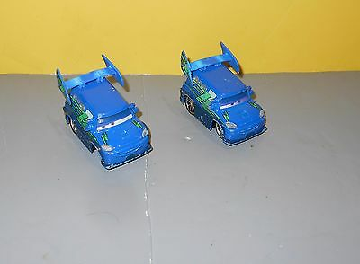 Mattel Disney Pixar Cars Diecast DJ Blue Spoiler Boom Music Cars Lot of 2