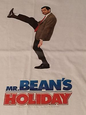 MR BEAN. OFFICIAL PROMOTIONAL T-SHIRT FROM 'MR BEANS HOLIDAY' Large