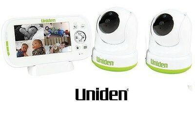 "Uniden Bw3451R +2 4.3"" Wireless Digital Baby Monitor Pan & Tilt  And Remote View"