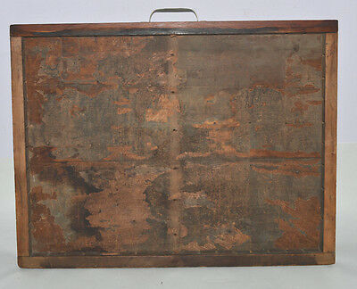 Vintage Printer's Type Tray/Drawer Shadow Box, 2/3 case (Yankee) no dividers
