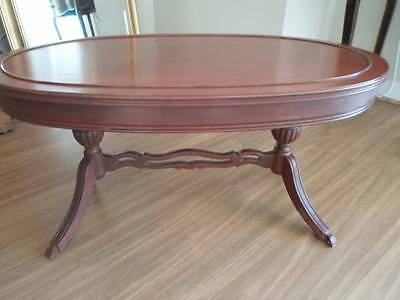 Antique Mahogany Coffee Table - refinished and lovely!