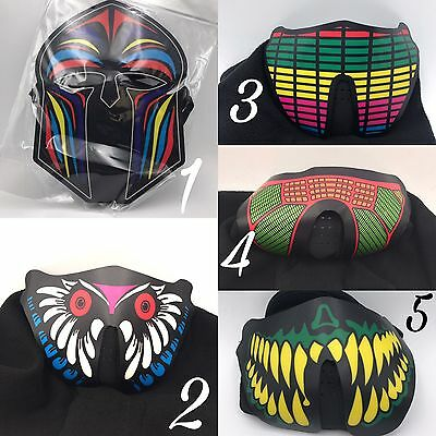"LED Face mask costume cosplay Rave Light Music "" BLOW OUT SPECIAL"""