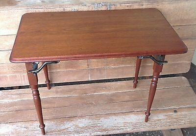Antique Salesman Sample Walnut and Cast Iron Sewing Table 1873