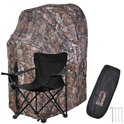 Outdoor Sport Hunting Camping Chair Ground Blind Real Tree Tent Hunt Turkey Deer