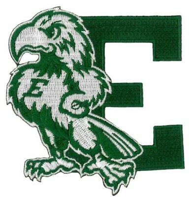 """Eastern Michigan Eagles Vintage Embroidered Iron On Patch (Old Stock)  3.5"""" x 3"""""""