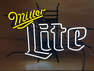 """Miller Lite Neon Sign ~ 23"""" W x 19"""" H ~ NEW IN BOX & Free Shipping ~ Authentic"""