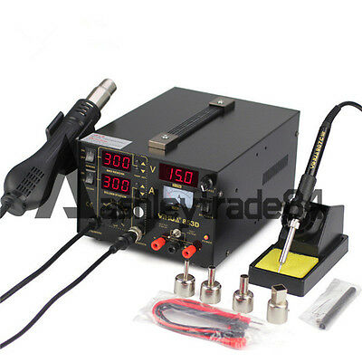 YIHUA 853D Hot Air Rework Station 3in1 Digital Display Soldering Station 220V