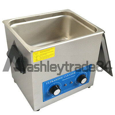 NEW 10L Ultrasonic Cleaner with Heater 240W Jewelry Watches Dental & Tattoo