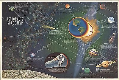 1961 Astronauts' Space Map  POSTER 8934002