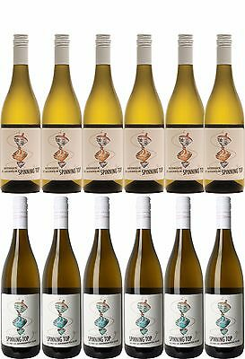 Spinning Top Marlborough Pinot Gris (6 pack) & Sauvignon Blanc (6 pack)