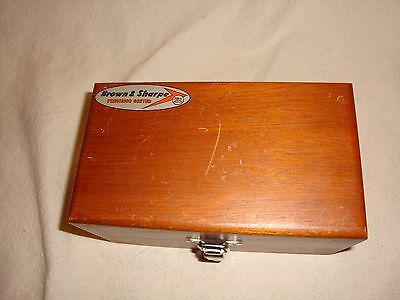 Brown & Sharpe Precision Center Wood Box Only