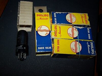 6V6GT  Philips or AWV Matched  Quads , Great  NOS Quality