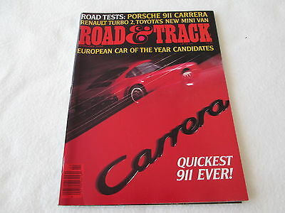 1984 Road Track Magazine Porsche 911 Carrera Coupe Renault 5 Turbo 2 Saturn