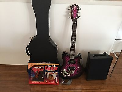Kids Electric Guitar, Case and Amplifier