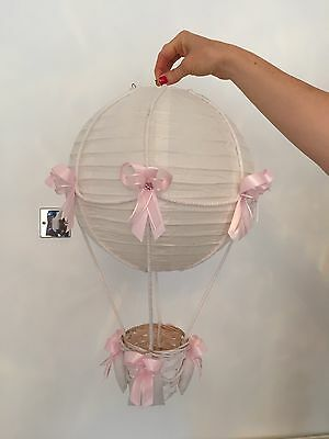 Pink Hot Air balloon Ceiling Light Lamp Shade For Nursery Toddler Room