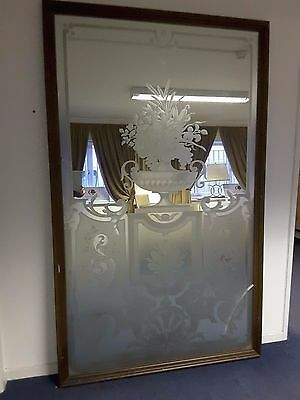 Large stylish etched mirror