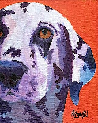 Dalmation Dog 11x14 signed art PRINT from painting RJK