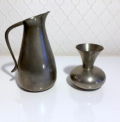 Royal Dutch Pewter JEKA TIEL HOLLAND Karaffe und Vase
