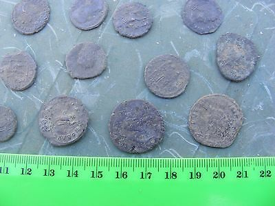 Lot of 12 Ancient Roman Coins,bronze....nice lot...few larger.(22mm)