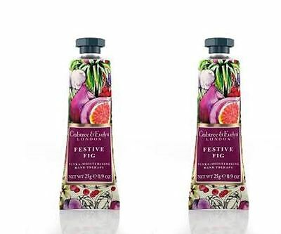 Crabtree & Evelyn Hand Therapy - FESTIVE FIG 2 x 25g Hand Therapy NEW LAST STOCK