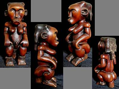 Expressive Female Figure Statue of the FANG Byeri Gabon Cameroon Africa