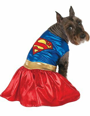 "Supergirl Pet Dog Costume, Small, Neck to Tail 11"", Chest 17"""