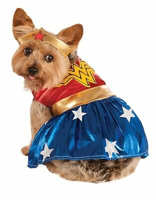 "Wonder Woman Pet Dog Costume, Medium, Neck to Tail 15"", Chest 20"""