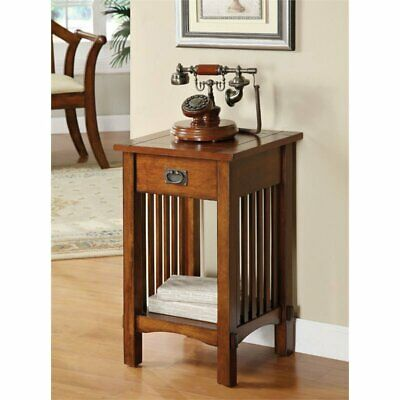 Furniture of America Murray II 1 Drawer End Table in Antique Oak