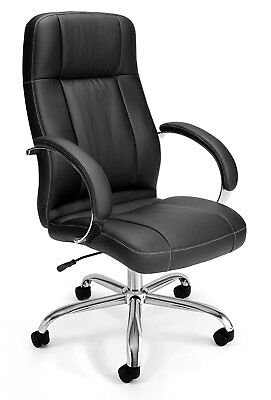 OFM Stimulus Series Synthetic Leather Executive High Back Chair with Padded Arms
