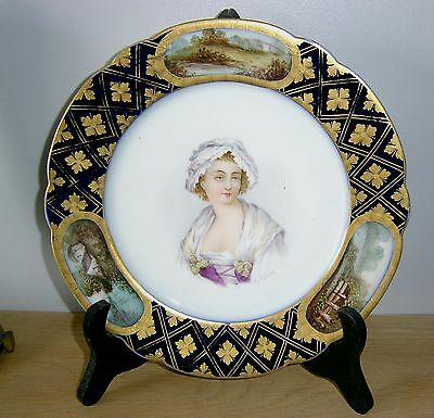 19th Century SEVRES Porcelain Plate - Country scenes -  Signed L Schmit