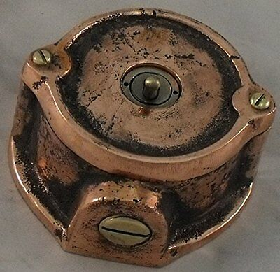 NEW SPECIAL COPPER Vintage Industrial 1 Gang Light Switch - BS EN Approved