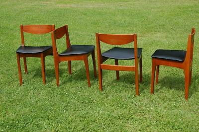 Retro! Set of Four Danish Style Dining Chairs - Ideal For Circular Table