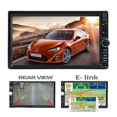 """7"""" HD Bluetooth Touch Screen Car Stereo Radio 2 DIN FM/MP5/MP3/USB/AUX Player"""