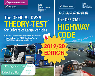 Dvsa Theory Test Book For Lgv / Hgv / Pcv Drivers & Highway Code Book