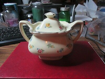 1940's-50's Lido W.S. George Canarytone Suger Bowl