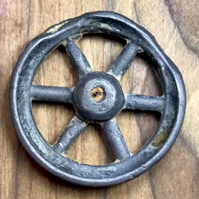 Ancient Imperial Roman Wheel Of Fortune Type Brooch.