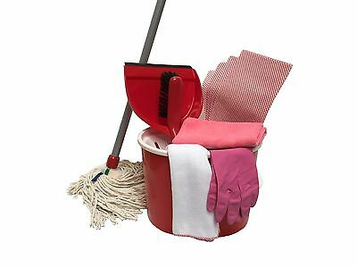 Red Mop and Bucket Cleaning Kit